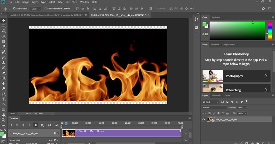 create video option