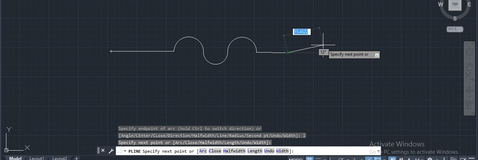 Polyline in AutoCAD - 13