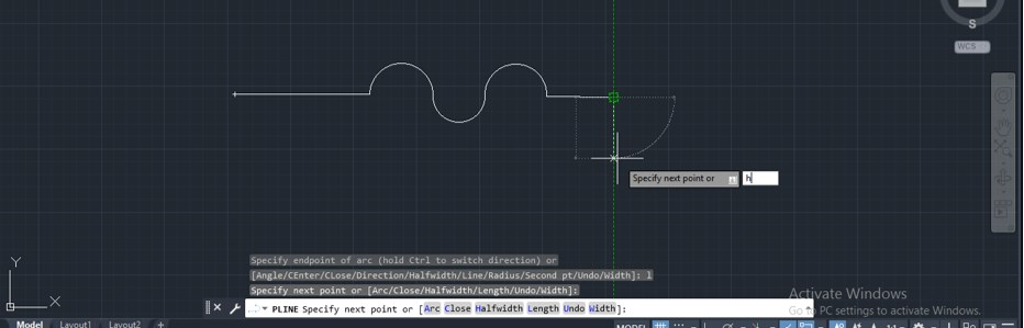 Polyline in AutoCAD - 14