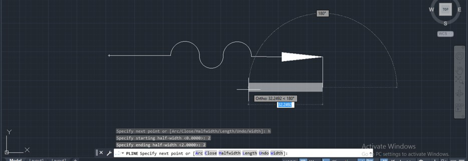 Polyline in AutoCAD - 18