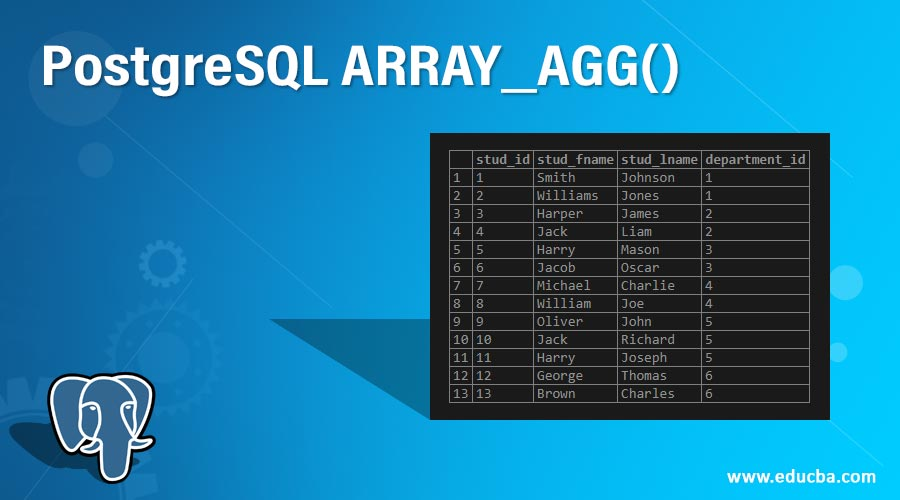 PostgreSQL ARRAY_AGG()