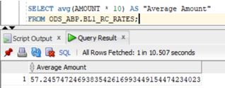 PostgreSQL Average3