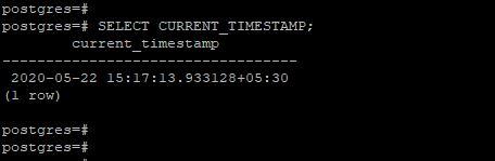 PostgreSQL CURRENT_TIMESTAMP()2