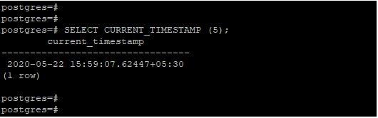 PostgreSQL CURRENT_TIMESTAMP()4