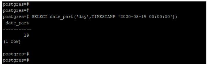 PostgreSQL DATE_PART() 6JPG