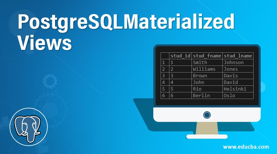 PostgreSQL Materialized Views