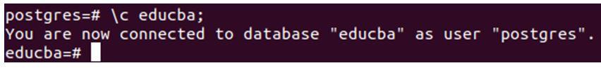 Switching database.