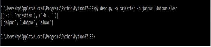 Python Command-line Arguments4