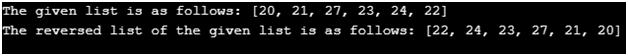 Python Reverse List Example 1Python Reverse List Example 1