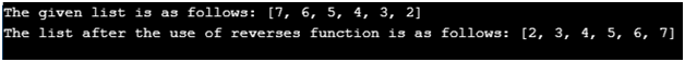 Python Reverse List Example 2