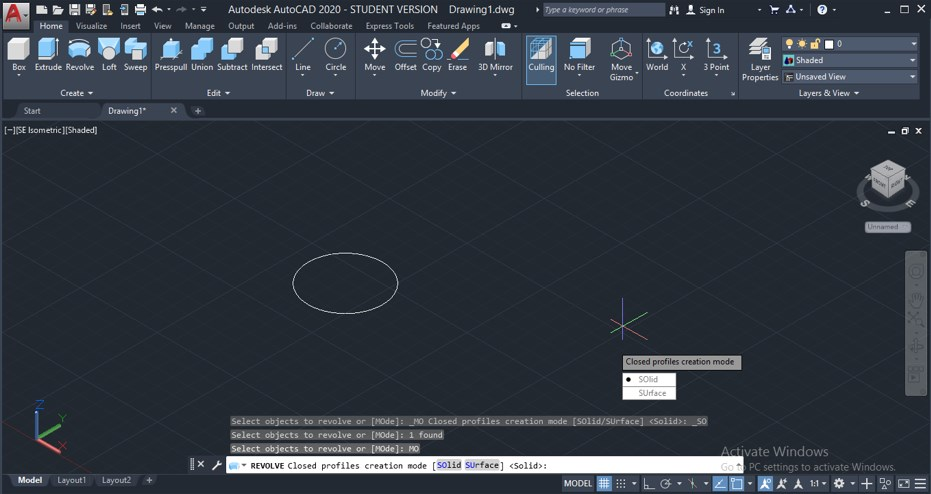 Revolve in AutoCAD - 19