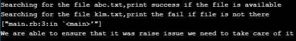 Ruby raise Example 3