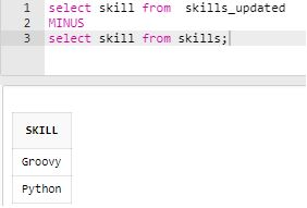 SQL MINUS3