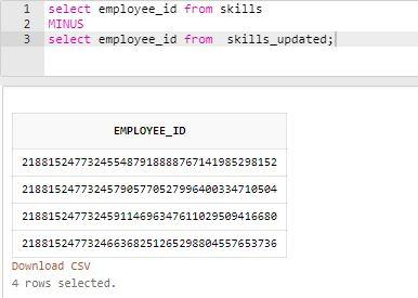 SQL MINUS5