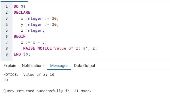 SQL Variables output 2