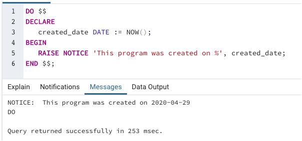 SQL Variables output 3