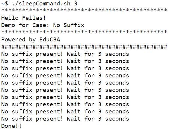 Shell Script Sleep-1.1