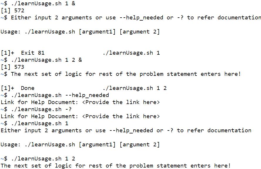 Shell Script Usage-1.1