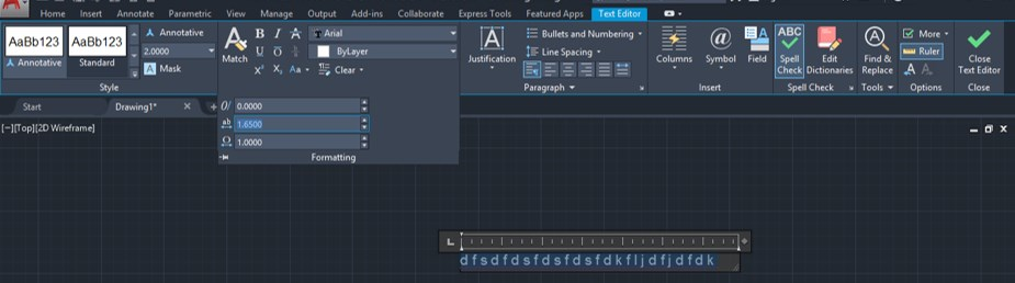 Text Command in AutoCAD - 17