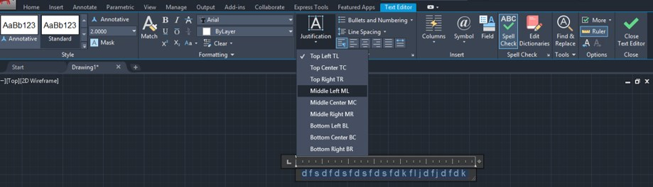 Text Command in AutoCAD - 19
