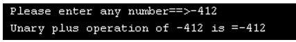 Unary operator in c 3
