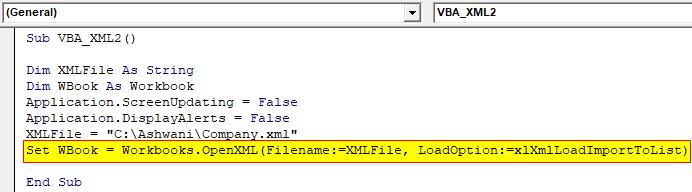 VBA XML Example 2-5