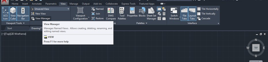 View Manager option
