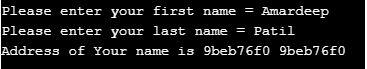 address operator in c3