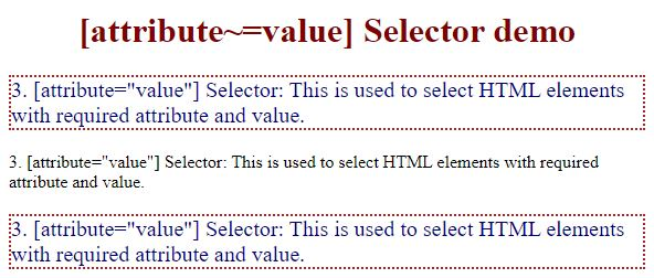 css attribute selector3