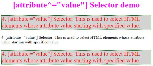 css attribute selector4