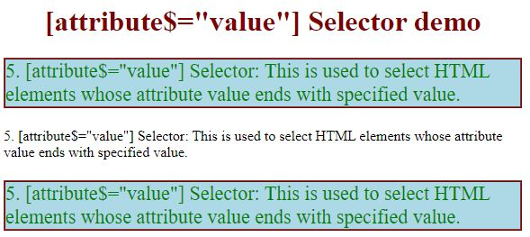 css attribute selector5