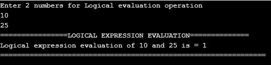 Logical expression evaluation
