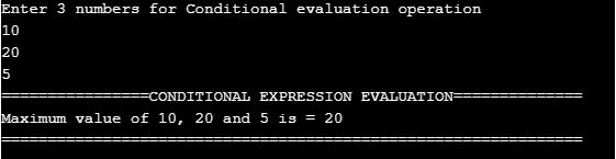 Conditional expression Evaluation
