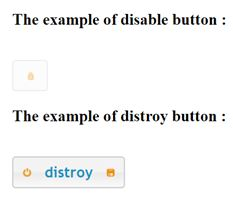 disable and distroy button