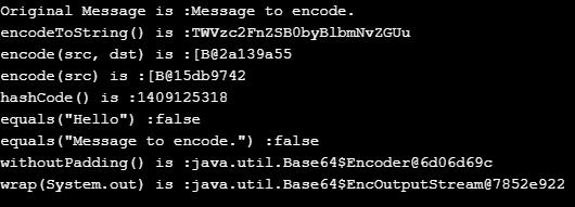 java base64 encoding output 2