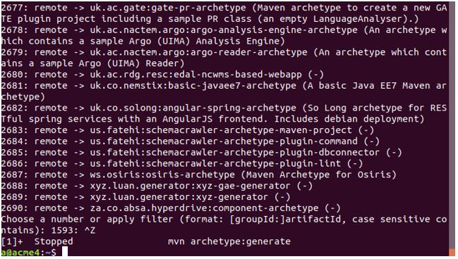 maven archetype output 2