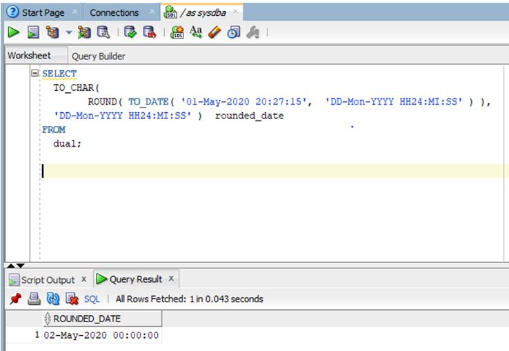 oracle date function 12