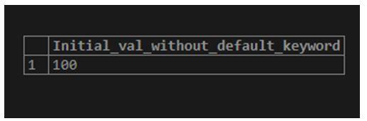 postgreSQL Variables 1