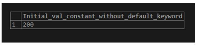 without default keyword