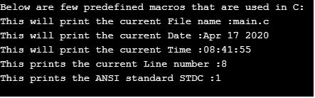 predefined macros