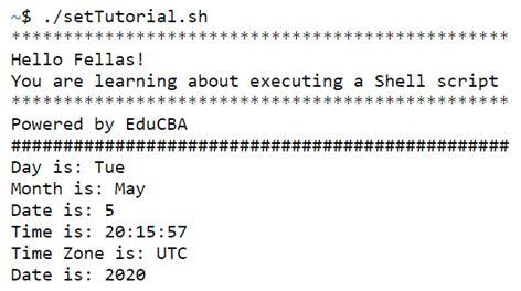 shell script set 1