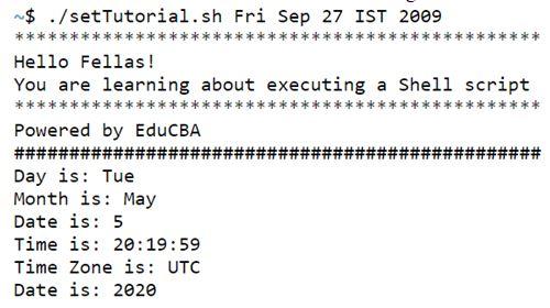 shell script set 2