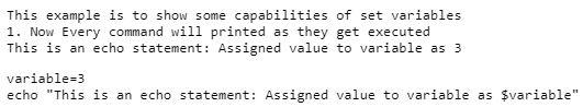 shell script set variable1