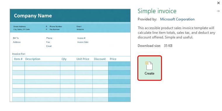 simple invoice 1