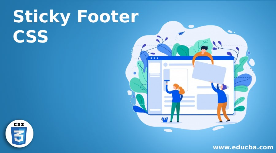 sticky footer css