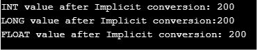 Implicit type casting