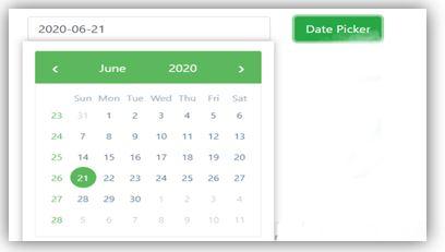 Angular Bootstrap Datepicker 4