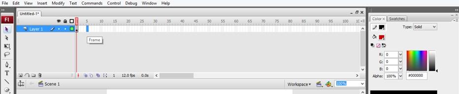 Animation in Adobe Flash - 12