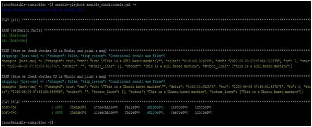 Ansible Conditional Example