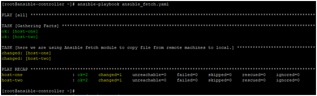 Ansible Fetch Example 1